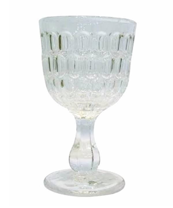 Taça transparente para água c/ detalhes em relevo 1 - Divino Espaço