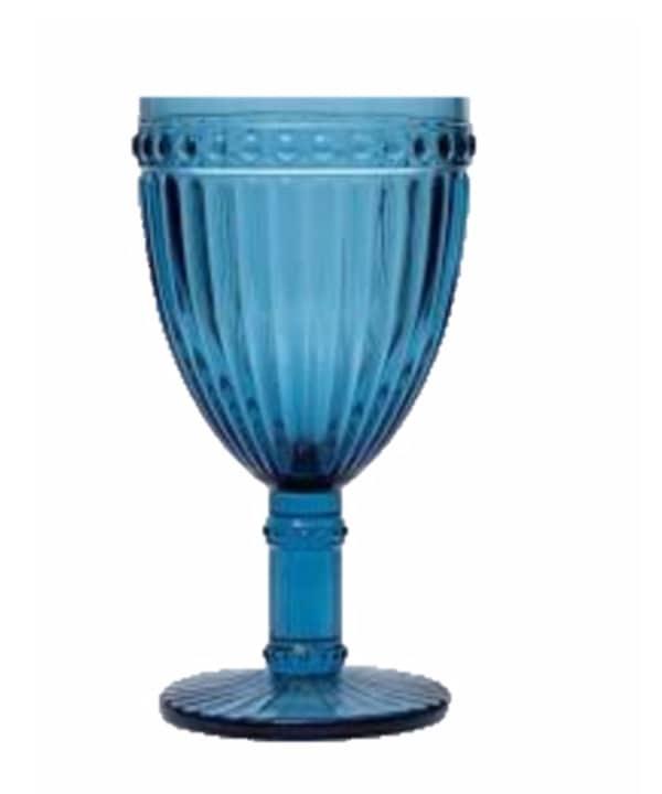 Taça canelada azul c/6 1 - Divino Espaço