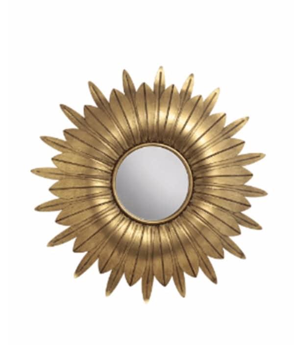 Espelho metal dourado modelos folhas 1 - Divino Espaço
