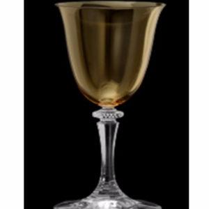 Taça para vinho âmbar C/6 2 - Divino Espaço