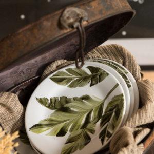 Caixa oval decorativa em metal envelhecido 2 - Divino Espaço
