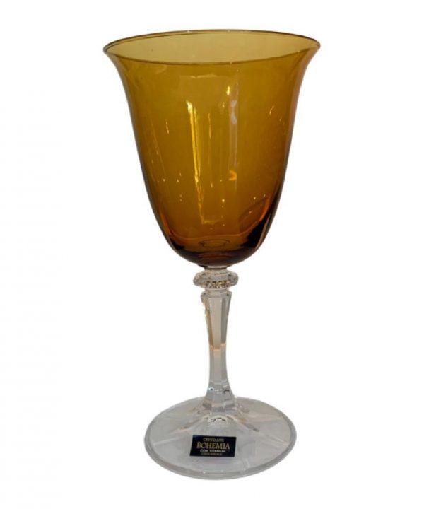 Taça para vinho âmbar C/6 1 - Divino Espaço