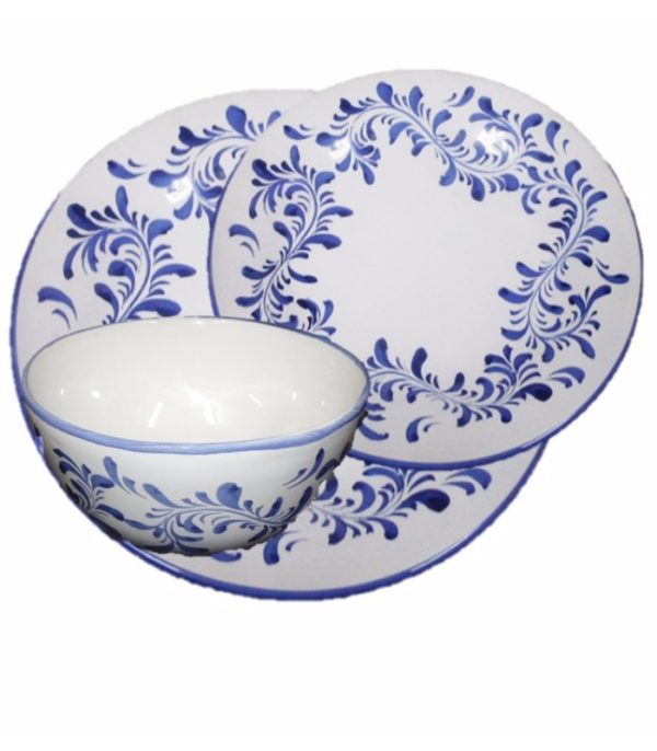 Aparelho jantar azulejo português 18 pçs 1 - Divino Espaço