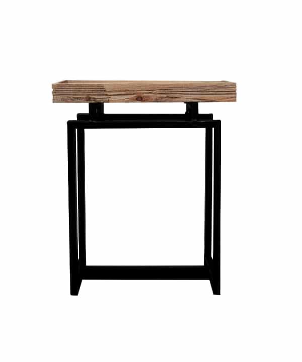 Mesa lateral madeira e metal 1 - Divino Espaço