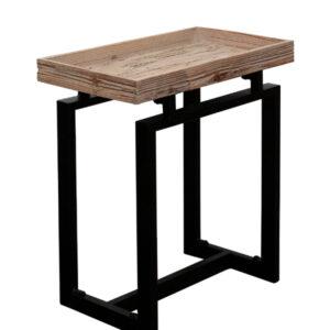 Mesa lateral madeira e metal 2 - Divino Espaço