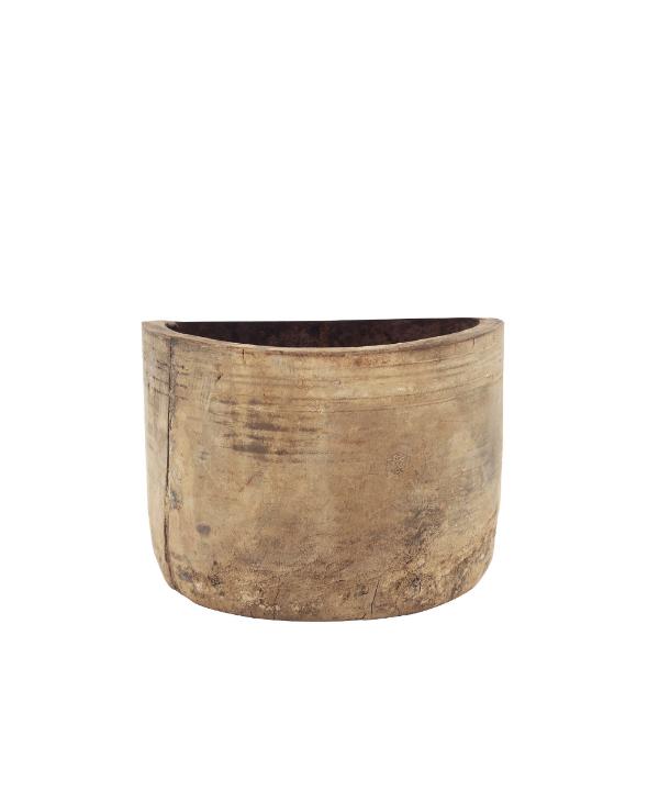 Mini floreira de madeira envelhecida 1 - Divino Espaço