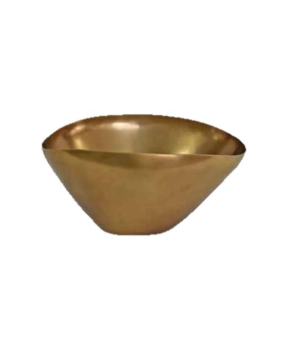 Bowl cônico em alumínio dourado fosco 1 - Divino Espaço