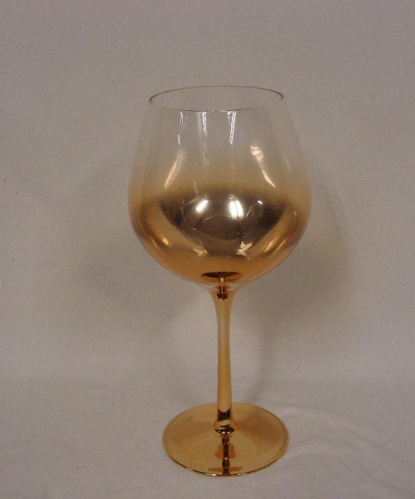 Taça para vinho de vidro c/ pés dourado-6 pçs (cópia) 1 - Divino Espaço