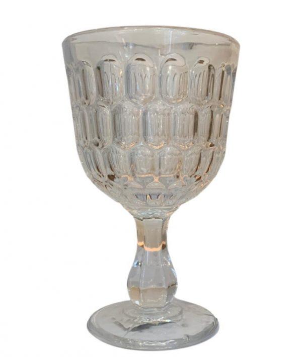 Taça transparente para água c/ detalhes em relevo 9 - Divino Espaço