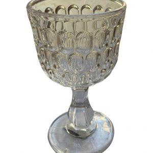 Taça transparente para água c/ detalhes em relevo 2 - Divino Espaço