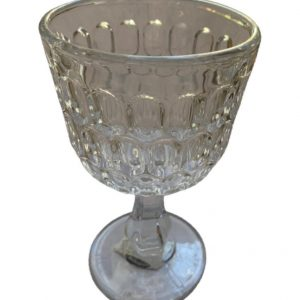 Taça transparente para água c/ detalhes em relevo 3 - Divino Espaço