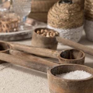 Concha de madeira envelhecida 3 - Divino Espaço