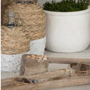 Concha de madeira envelhecida 2 - Divino Espaço