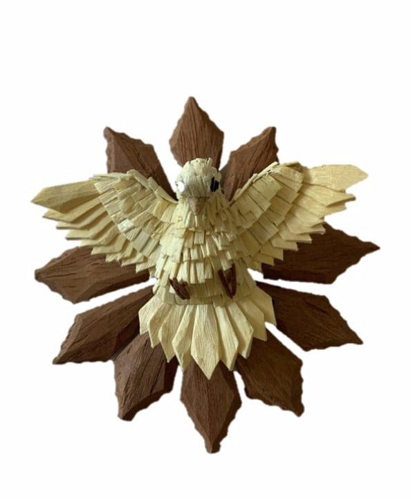 Espírito Santo mini em madeira 1 - Divino Espaço