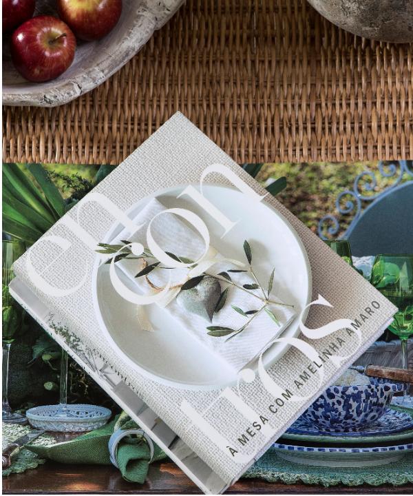 Livro Encontros à Mesa com Amelinha Amaro 1 - Divino Espaço