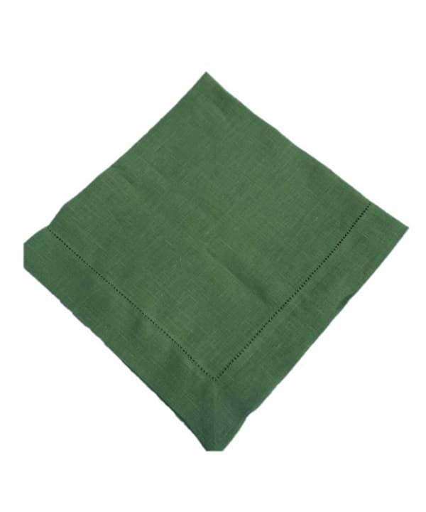 Guardanapo de linho verde c/ ponto ajour- 6 peças 1 - Divino Espaço