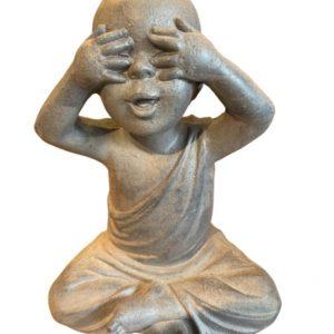 """Escultura Budas """"não vejo , não escuto e não falo"""" 03 pçs 3 - Divino Espaço"""