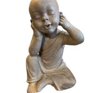 """Escultura Budas """"não vejo , não escuto e não falo"""" 03 pçs 4 - Divino Espaço"""