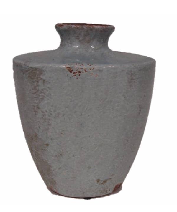 Vaso cerâmica craquelada azul claro 1 - Divino Espaço