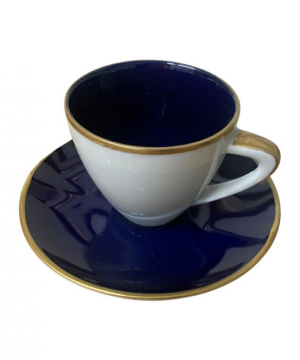 XICARA CAFÉ C/6 AZUL COBALTO 21 - Divino Espaço